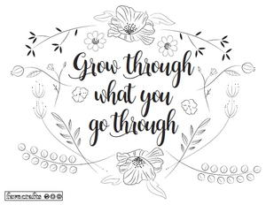 Grow Like Flowers Adult Coloring Page | FaveCrafts.com