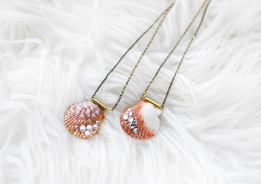 Shimmer Seashell Necklace DIY