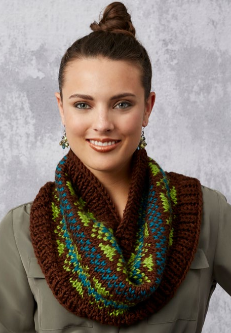 Fabulous Fair Isle Knit Cowl Pattern Allfreeknitting