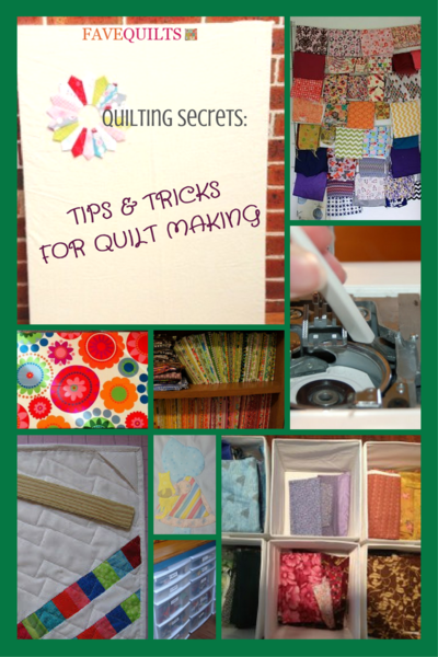 Quilting Secrets: 27 Tips and Tricks for Quilt Making | FaveQuilts.com : quilting tricks - Adamdwight.com