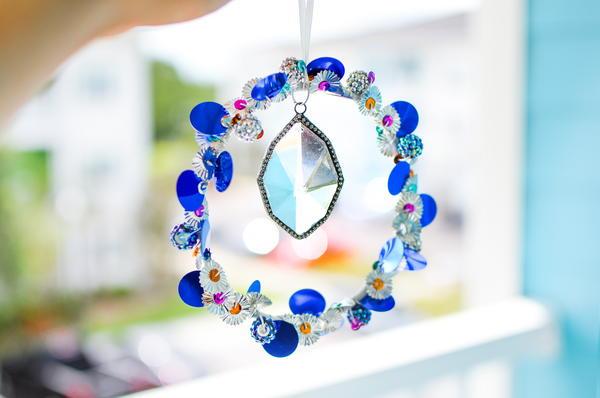 Sparkle Sequin DIY Suncatcher | FaveCrafts.com