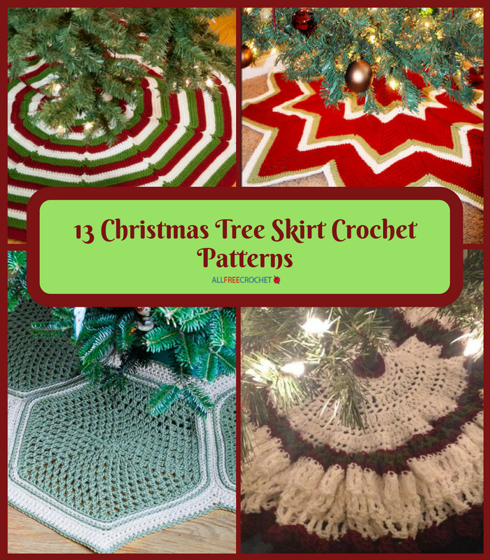 13 Christmas Tree Skirt Crochet Patterns Allfreecrochet