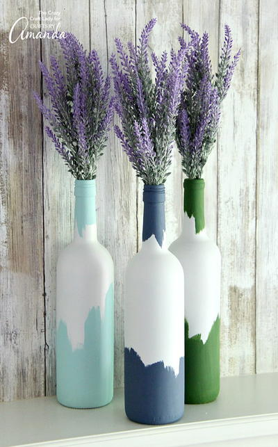 Perfect Painted Wine Bottle Craft