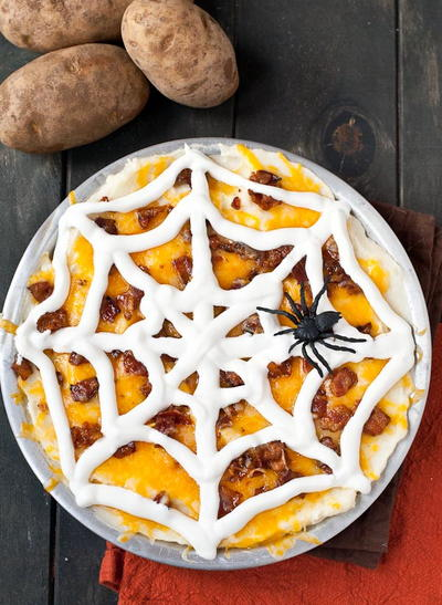 Spooky Mashed Potato Casserole