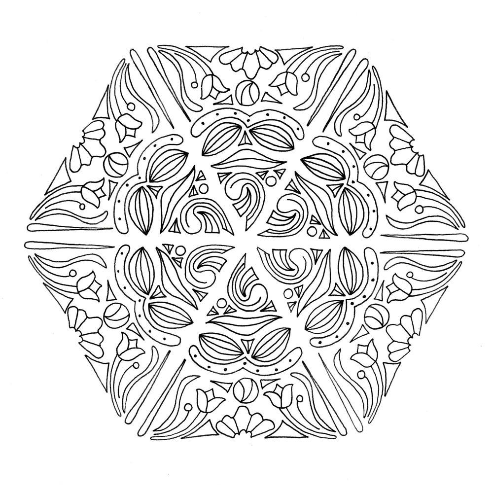 Mandala Magic Adult Coloring Page   FaveCrafts.com