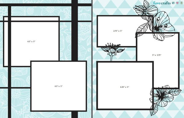 Scrapbook Layout Ideas 5 Scrapbook Templates To Inspire