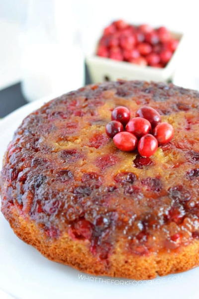 Gluten Free Cranberry Upside-Down Cake