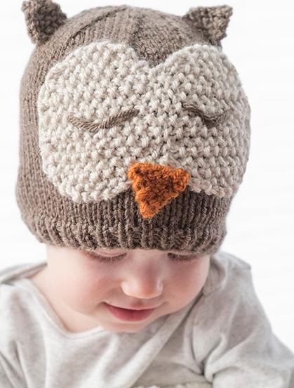 sleepy owl baby hat pattern allfreeknitting com
