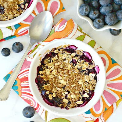 Mini Blueberry Crumbles
