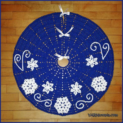 Fabulous Flurries Crochet Tree Skirt Allfreecrochet