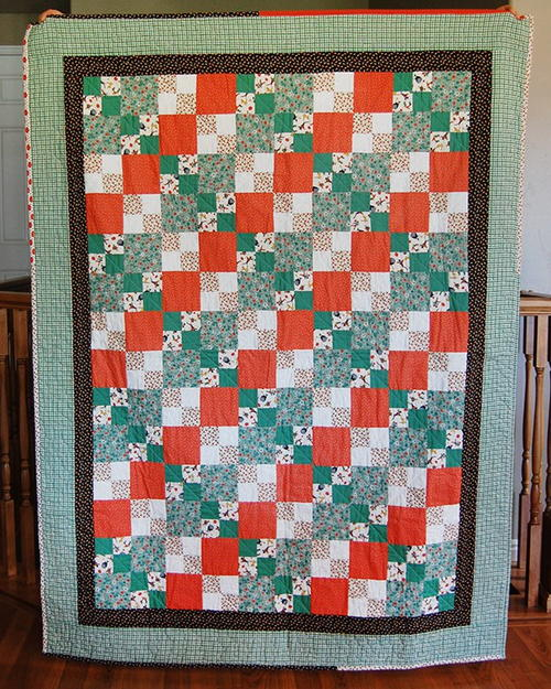 Candy Corn Four Patch Quilt Favequilts