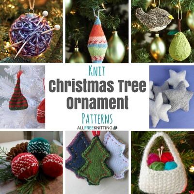 Knit Christmas Tree Ornament Patterns