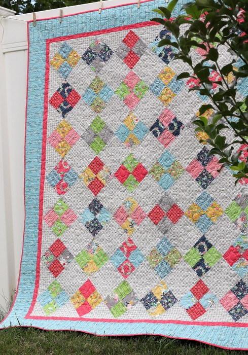 Farmhouse Four Patch Quilt Tutorial Favequilts