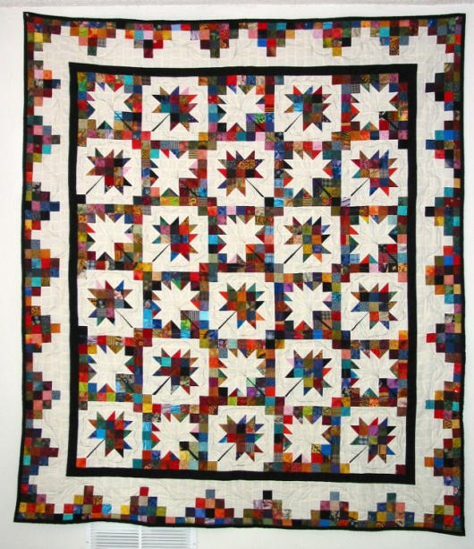 Scrappy Maple Leaf Quilt Pattern