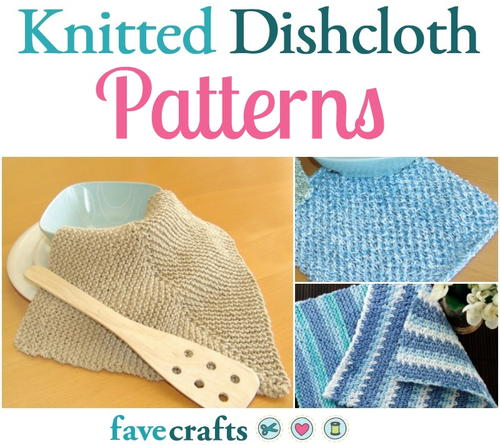 12 Knitted Dishcloth Patterns Easy Knitting Patterns For The