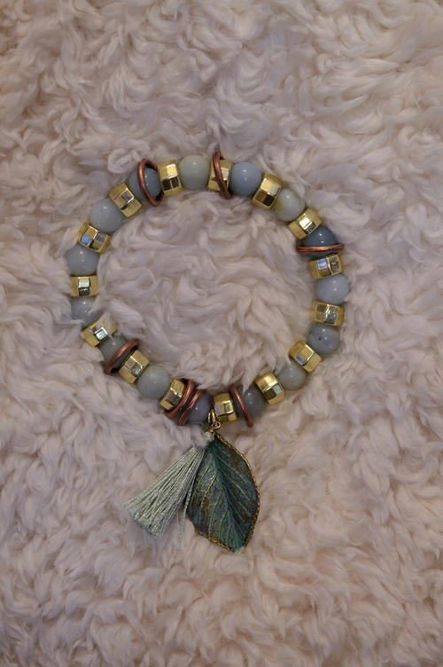 DIY Mixed-Metals Patinated Stretch Bracelet