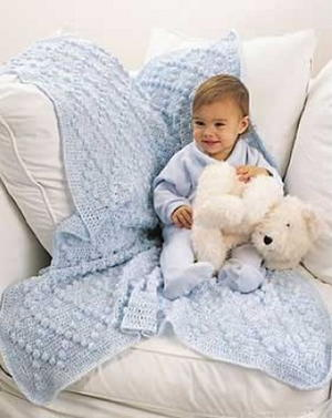 Diamond Bobble Baby Blanket