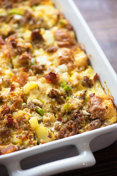 Make-Ahead Cowboy Brunch Casserole