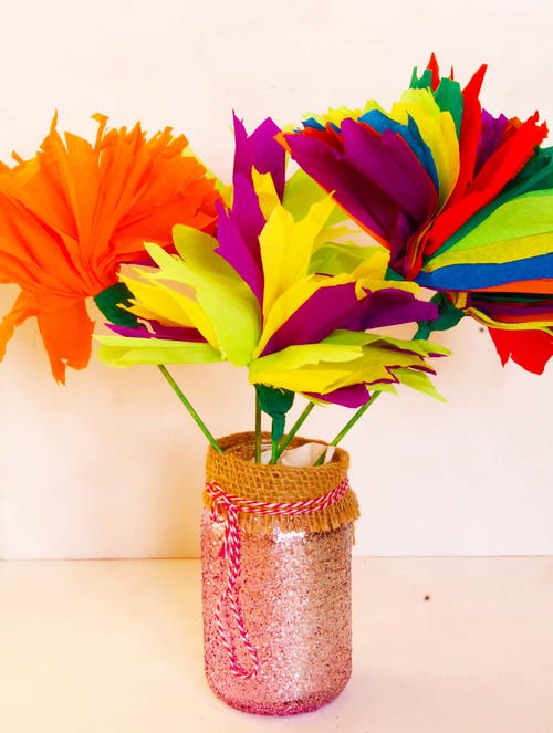 Easy homemade tissue paper flowers diyideacenter easy homemade tissue paper flowers mightylinksfo