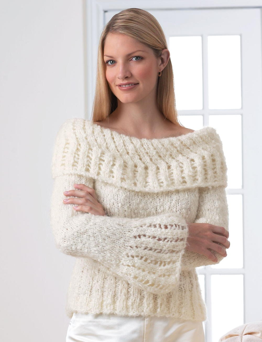Knitting Patterns Sweater : Lacework sweater allfreeknitting
