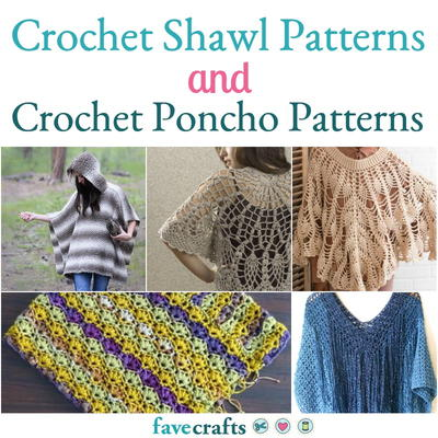 21 Crochet Shawl Patterns  How to Crochet a Poncho