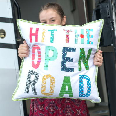 Hit the Open Road Pillow Tutorial