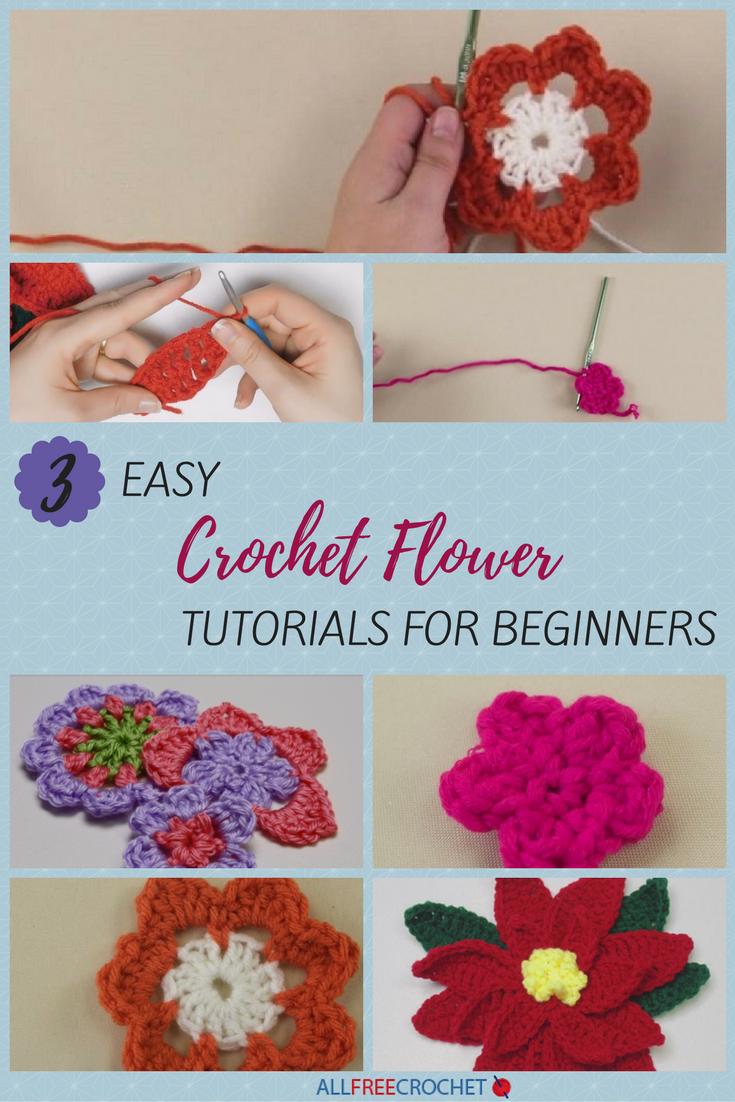 3+ Easy Crochet Flower Tutorials for Beginners | AllFreeCrochet.com