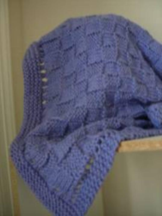 Easy Basket Weave Baby Blanket Allfreeknitting