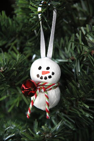 Hazelnut Snowman Ornament