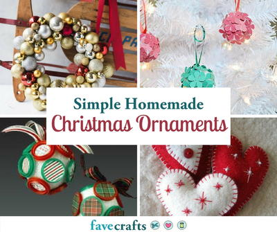 70 simple homemade christmas ornaments - Christmas Bulb Decorations