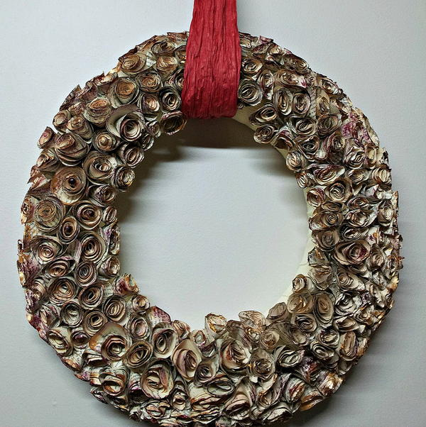 Spiral Rose Book Page Wreath Tutorial