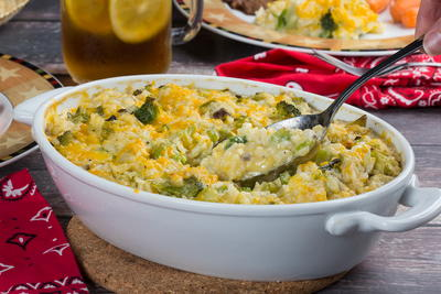 Texas Broccoli and Rice Casserole