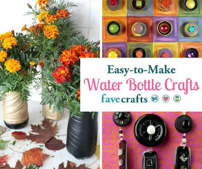 25 Easy Water Bottle Crafts Diy Decor And More Favecrafts