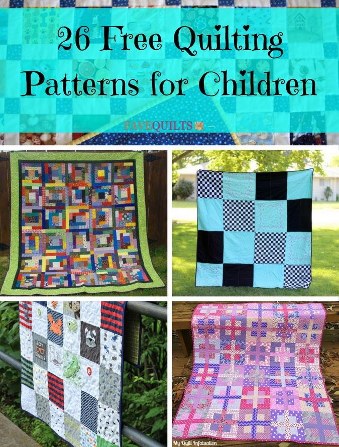 26 Free Quilting Patterns for Children   FaveQuilts.com : children quilt - Adamdwight.com
