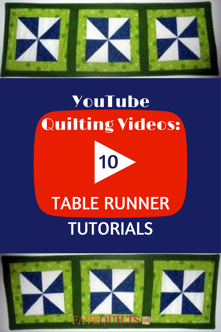 Youtube Quilting Videos 10 Table Runner Tutorials Favequilts
