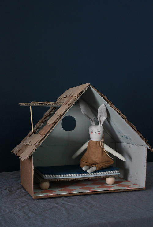 Upcycled Cardboard House Craft