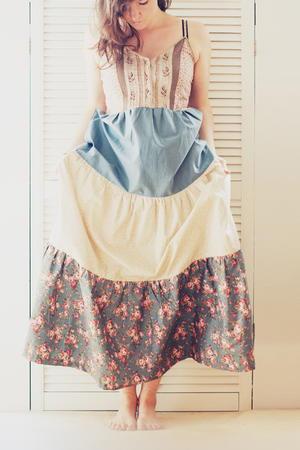 Vintage Vest to Maxi Dress Tutorial