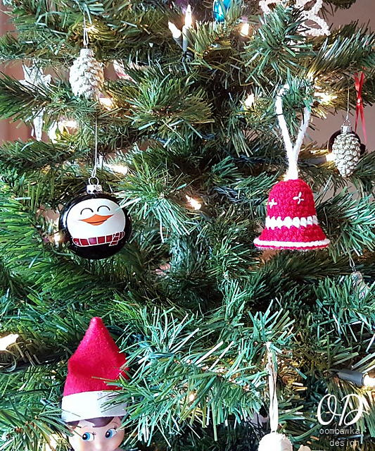Crochet Christmas Bell Ornament
