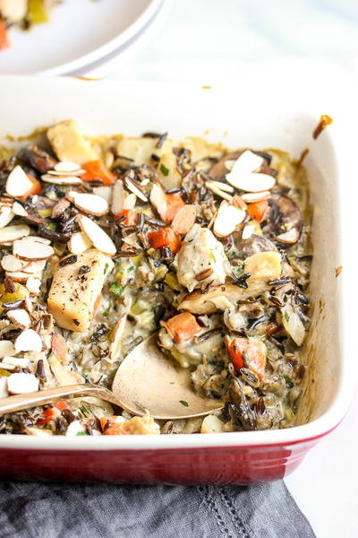 Moms Make-Ahead Chicken Wild Rice Casserole