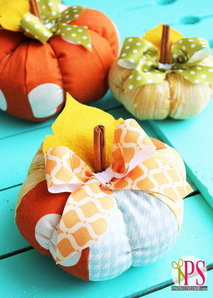 Plush Patchwork Pumpkins