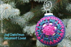 Joy! Christmas Ornament Cover