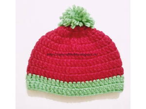 Watermelon Bulky Yarn Baby Hat