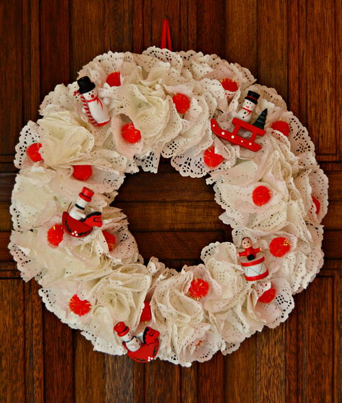 Recycled Record Jackets Christmas Wreath