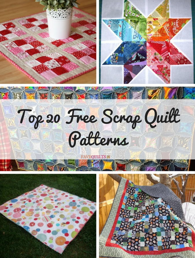 Top 20 Free Scrap Quilt Patterns | FaveQuilts.com : free table top quilt patterns - Adamdwight.com