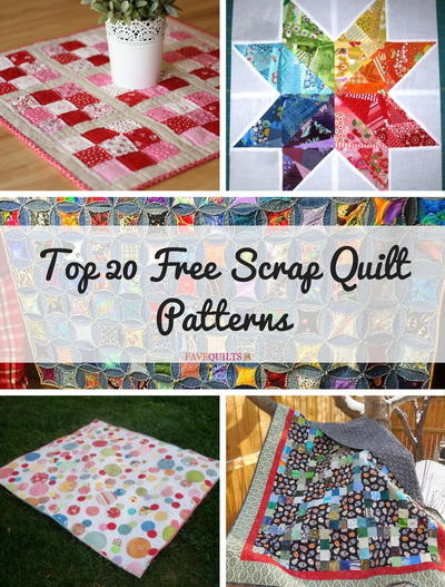 Top 20 Free Scrap Quilt Patterns Favequilts
