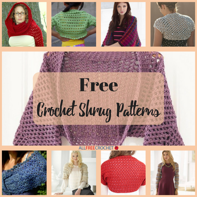 31 Free Crochet Shrug Patterns | AllFreeCrochet.com
