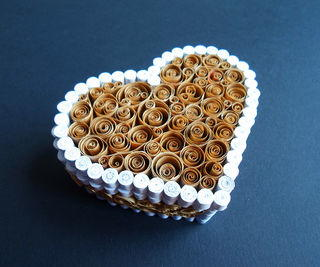 Paper Quilled Heart Box