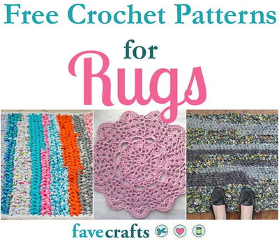 40 Free Crochet Patterns for Rugs FaveCrafts Inspiration Free Crochet Patterns