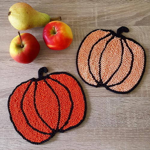 Easy Peasy Pumpkin Potholders