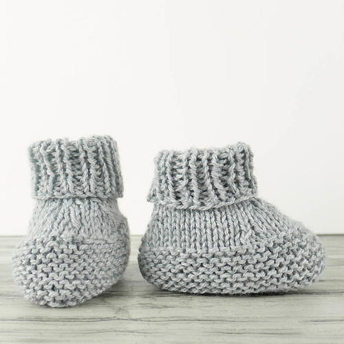 Worlds Easiest Knit Baby Booties Allfreeknitting
